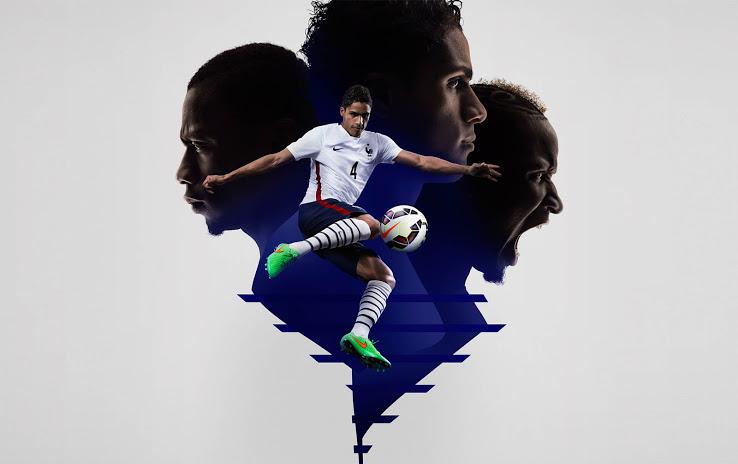 FFF Le maillot blanc exterieur équipe de France 2015