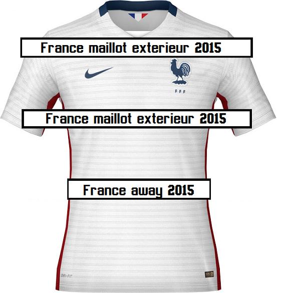 Fff le maillot blanc exterieur quipe de france 2015 for Maillot equipe de france exterieur 2013