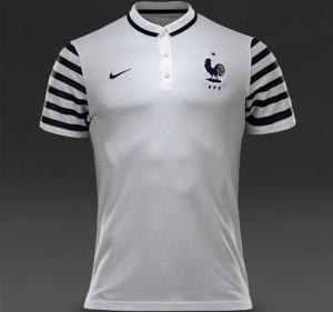 France 2015 polo blanc football