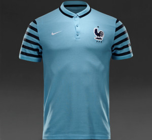 France 2015 polo bleu