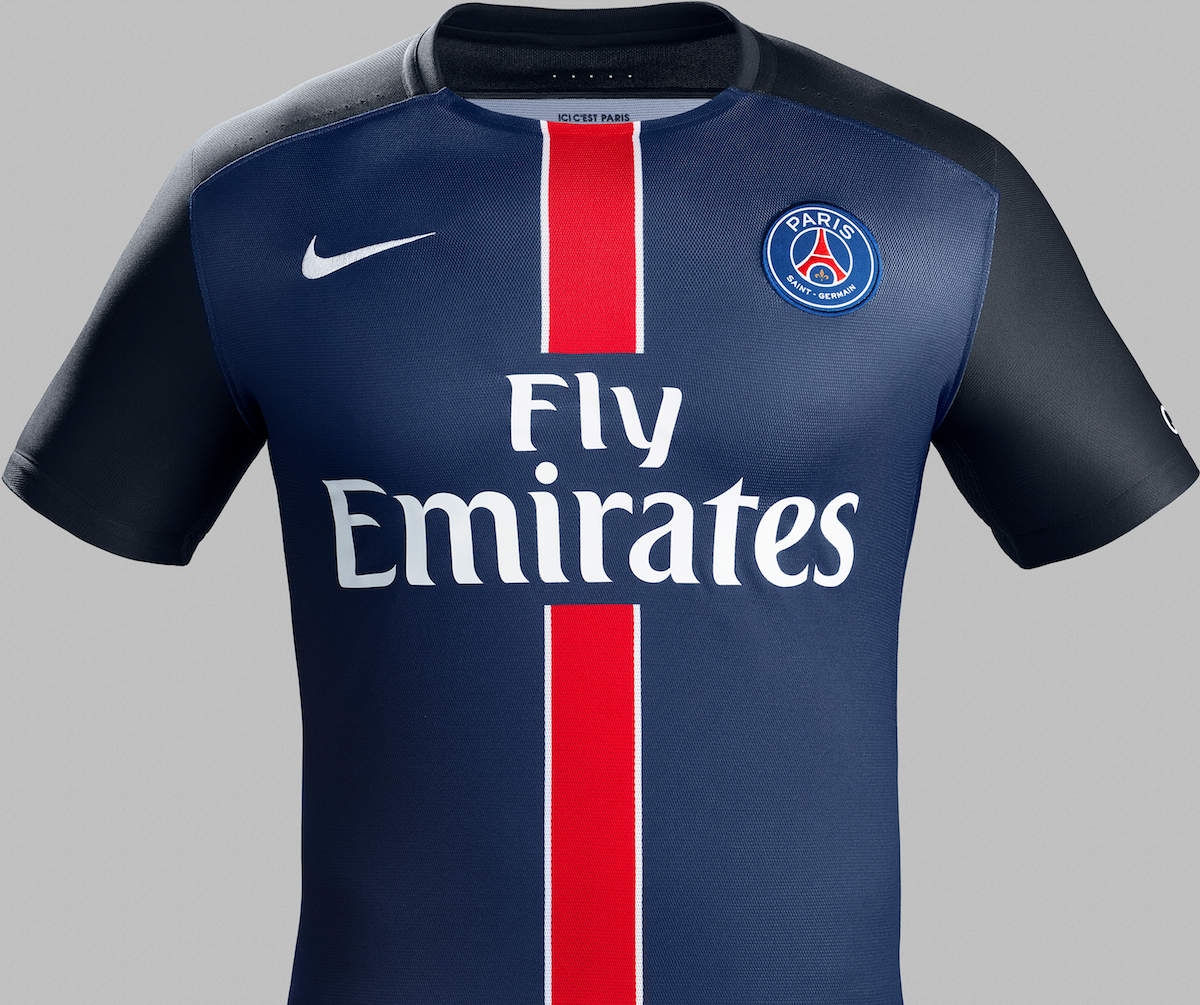 psg 2016 nouveaux maillots paris saint germain 2015 2016 maillots foot actu. Black Bedroom Furniture Sets. Home Design Ideas
