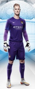 Manchester City 2016 Joe Hart tenue maillot foot gardien 15-16