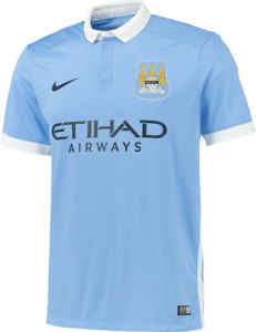 Manchester City 2016 maillot domicile officiel 15-16