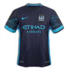 Manchester City 2016 maillot exterieur 15-16