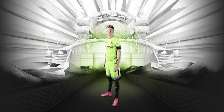 Les nouveaux maillots Manchester City 2016