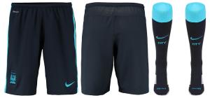 Manchester City 2016 short exterieur chaussettes 15-16