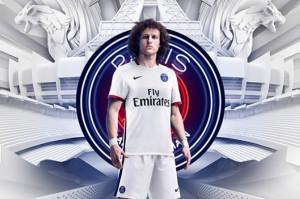 PSG 2016 maillot de foot exterieur blanc Davide Luis 15-16
