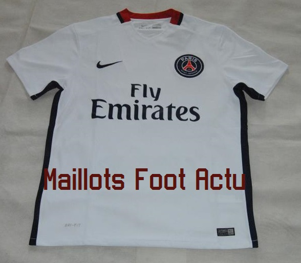 Psg maillot exterieur 16 panier nike air max 90 for Maillot psg exterieur 16 17