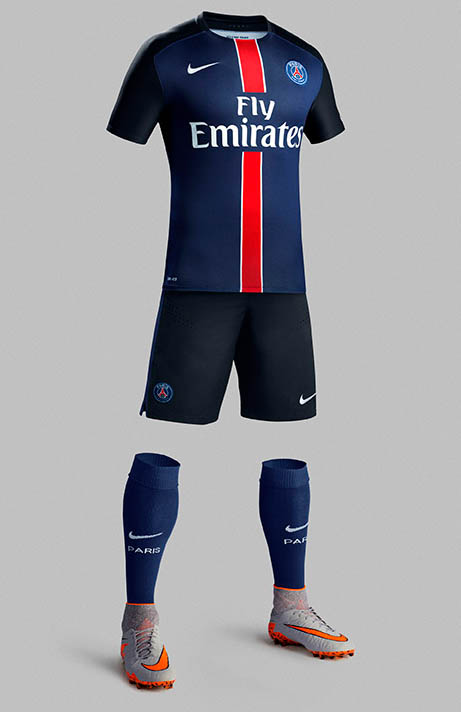 maillot domicile foot PSG 15-16
