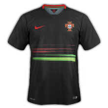Portugal 2015 maillot exterieur football noir