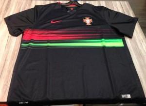 maillot foot exterieur noir Portugal 2015