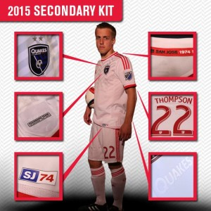 San Jose Earthquakes 2015 maillot exterieur foot