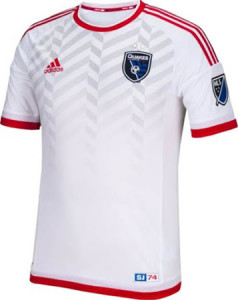 San Jose Earthquakes 2015 maillot exterieur football