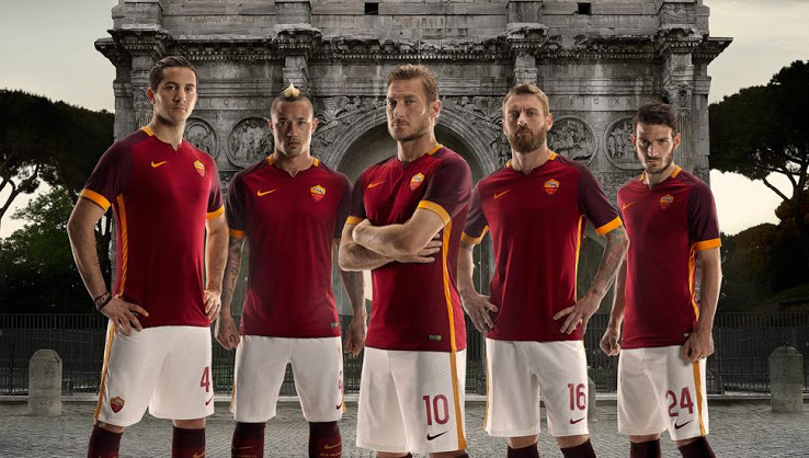 AS Roma 2016 nouveaux maillots AS Rome 2015-2016