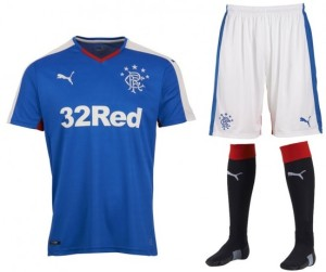 Glasgow Rangers 2016 maillot domicile football 15-16