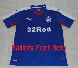 Glasgow Rangers 2016 maillot foot domicile football 15-16
