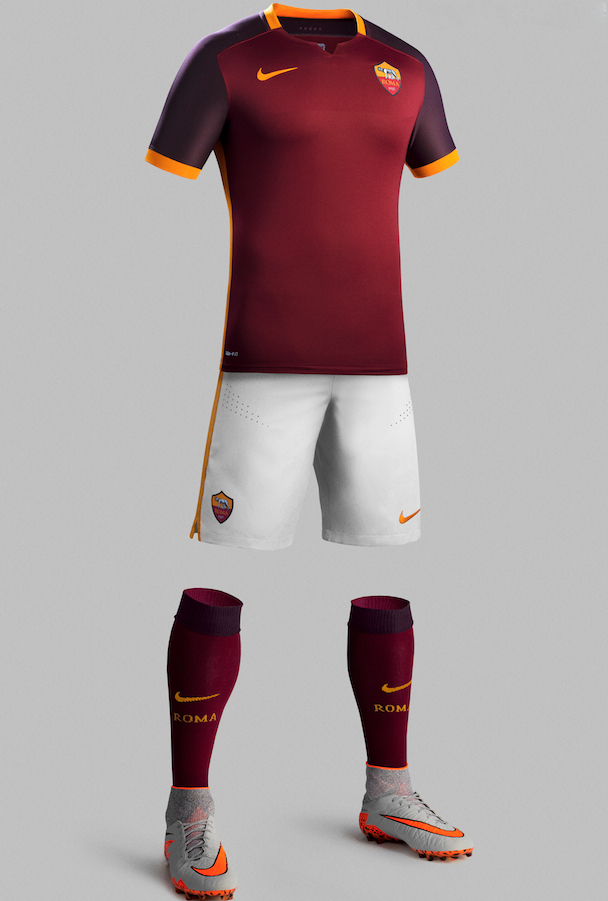 mailot domicile AS Roma 2016