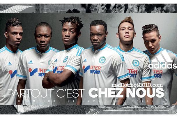 OM 2016 maillots foot Marseille 2015 2016
