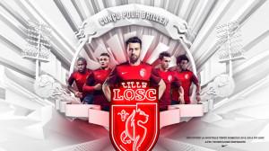 LOSC 2016 maillot domicile Lille 2015 2016 officiel