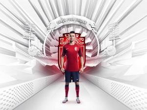 LOSC 2016 maillot domicile Lille 2016 officiel