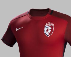 LOSC 2016 maillot domicile haut 15-16