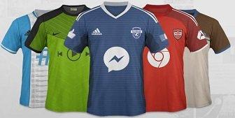 maillot de foot twitter youtube facebook snapchat : réseaux sociaux