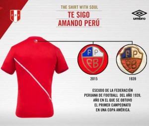 Perou 2015 maillot exterieur Copa America Umbro