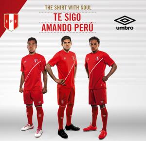 Perou 2015 maillot exterieur Copa America officiel