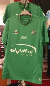 Saint-Etienne 2016 football maillot domicile photo en boutique