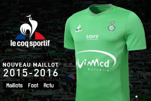 Saint-Etienne 2016 maillot domicile ASSE 15-16 officiel boutique