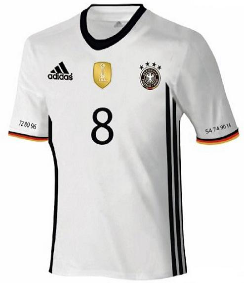 Allemagne 2016 maillot domicile Euro 2016