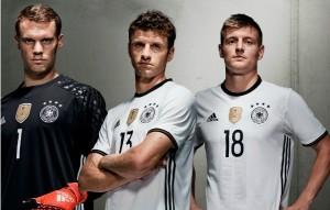 Allemagne Euro 2016 maillot domiciel et gardien Adidas