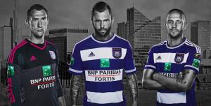 Anderlecht 2016 maillot domicile officiel et gardien