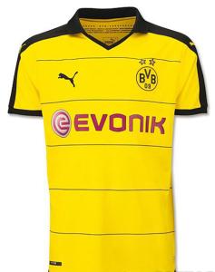 Borussia Dortmund 2016 maillot domicile officiel 15-16 foot