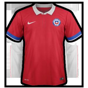 Chili 2015 2016 maillot domicile