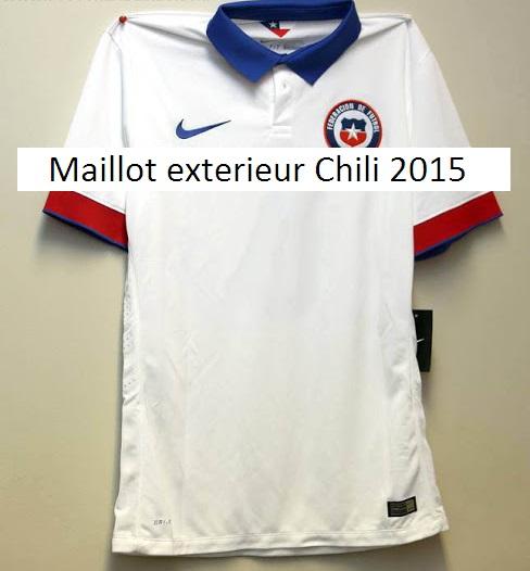 Maillots de football du chili 2015 maillots foot actu for Maillot exterieur