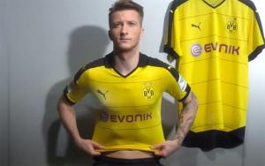 Dortmund 2016 maillot domicile 15-16 officiel