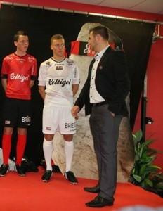 EA Guingamp maillot foot exterieur 15-16