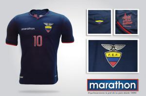 Equateur 2015 maillot foot exterieur Copa America