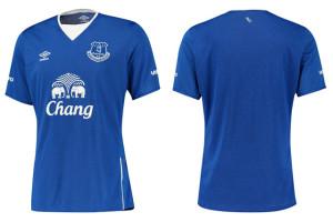 Everton 15-16 nouveau maillot domicile 2015 2016