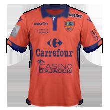 Gazelec Ajaccio 2016 maillot domicile 15-16