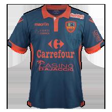 Gazelec Ajaccio 2016 maillot exterieur 15-16