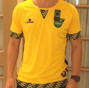 Jamaique 2015 maillot foot domicile