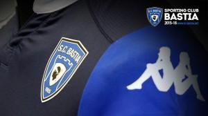 SC Bastia 2016 maillot domicile blason 2015 2016