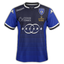 SC Bastia 2016 maillot domicile foot