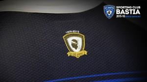 SC Bastia 2016 maillot domicile logo dos 2015 2016