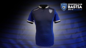 SC Bastia 2016 maillot foot domicile officiel 2015 2016