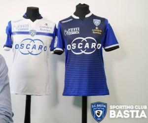 SC Bastia 2016 maillots de football 15-16