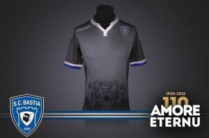 SC Bastia 2016 troisieme maillot third 2015 2016