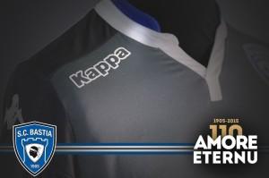 SC Bastia 2016 troisieme maillot third 2015 2016 col